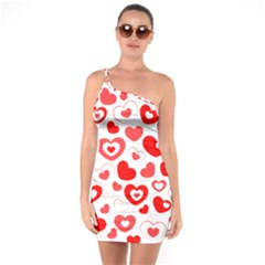 Cards Ornament Design Element Gala One Soulder Bodycon Dress
