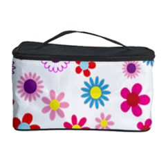 Floral Flowers Background Pattern Cosmetic Storage Case