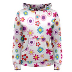 Floral Flowers Background Pattern Women s Pullover Hoodie