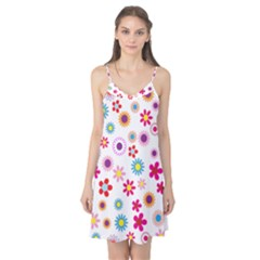 Floral Flowers Background Pattern Camis Nightgown