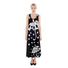 Mandala Calming Coloring Page Sleeveless Maxi Dress