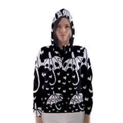 Mandala Calming Coloring Page Hooded Wind Breaker (women)