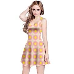Pattern Flower Background Wallpaper Reversible Sleeveless Dress