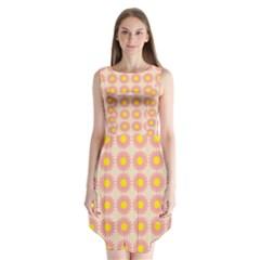 Pattern Flower Background Wallpaper Sleeveless Chiffon Dress