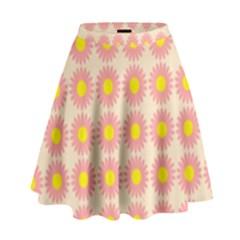 Pattern Flower Background Wallpaper High Waist Skirt