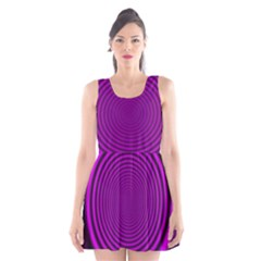 Background Coloring Circle Colors Scoop Neck Skater Dress