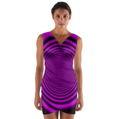 Background Coloring Circle Colors Wrap Front Bodycon Dress