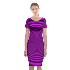 Background Coloring Circle Colors Classic Short Sleeve Midi Dress