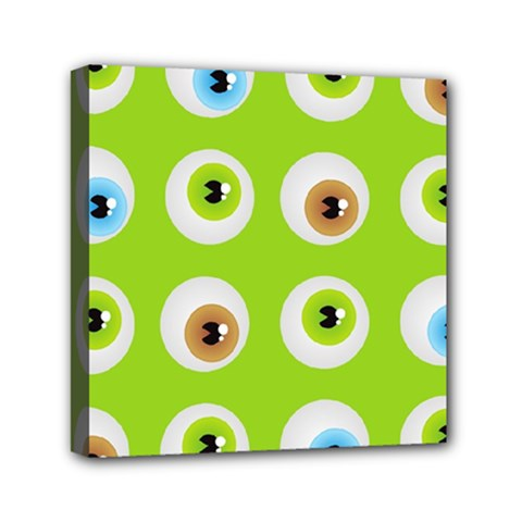 Eyes Background Structure Endless Mini Canvas 6  X 6