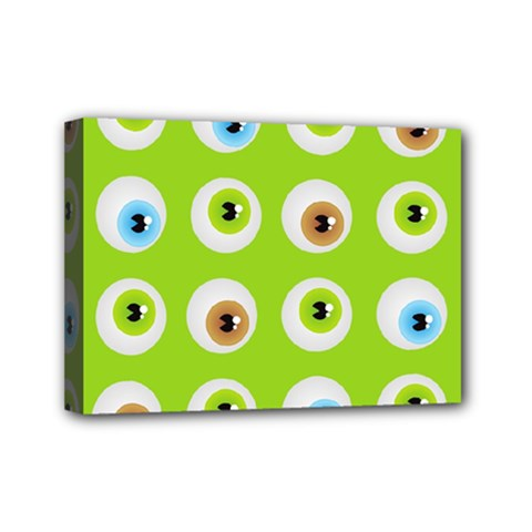 Eyes Background Structure Endless Mini Canvas 7  x 5