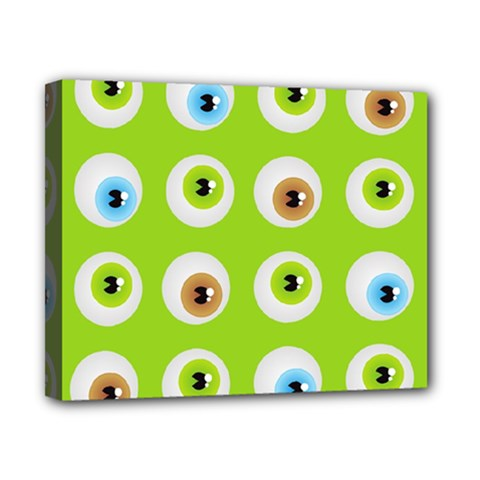 Eyes Background Structure Endless Canvas 10  X 8