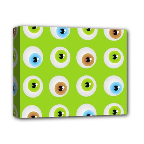 Eyes Background Structure Endless Deluxe Canvas 14  X 11