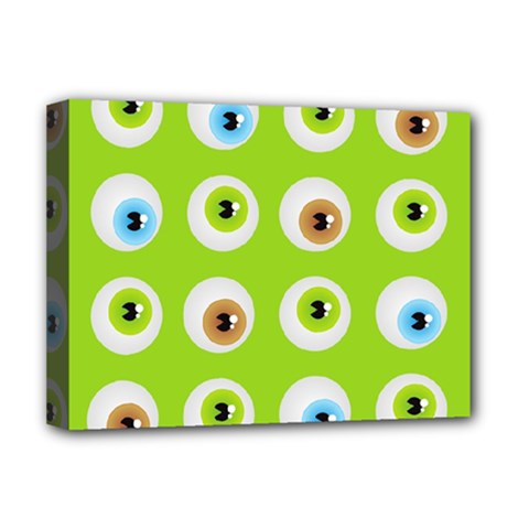 Eyes Background Structure Endless Deluxe Canvas 16  X 12