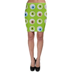 Eyes Background Structure Endless Bodycon Skirt