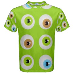 Eyes Background Structure Endless Men s Cotton Tee