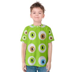 Eyes Background Structure Endless Kids  Cotton Tee
