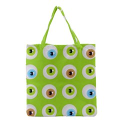 Eyes Background Structure Endless Grocery Tote Bag