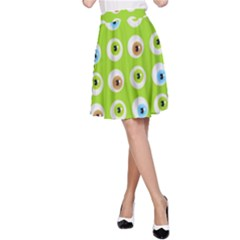 Eyes Background Structure Endless A-Line Skirt