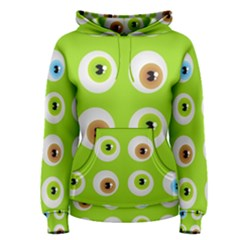 Eyes Background Structure Endless Women s Pullover Hoodie