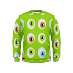 Eyes Background Structure Endless Kids  Sweatshirt