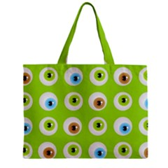 Eyes Background Structure Endless Zipper Mini Tote Bag