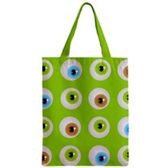Eyes Background Structure Endless Zipper Classic Tote Bag