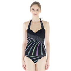 Graphic Design Graphic Design Halter Swimsuit