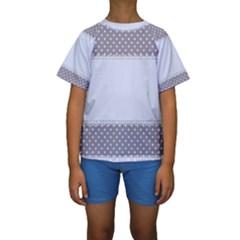 Blue Modern Kids  Short Sleeve Swimwear