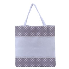 Blue Modern Grocery Tote Bag