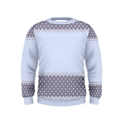 Blue Modern Kids  Sweatshirt