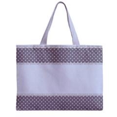 Blue Modern Zipper Mini Tote Bag