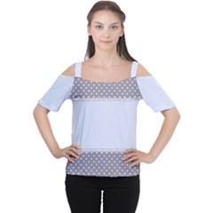 Blue Modern Women s Cutout Shoulder Tee