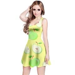 Apples Apple Pattern Vector Green Reversible Sleeveless Dress