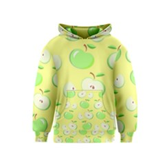 Apples Apple Pattern Vector Green Kids  Pullover Hoodie