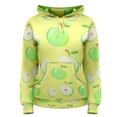 Apples Apple Pattern Vector Green Women s Pullover Hoodie