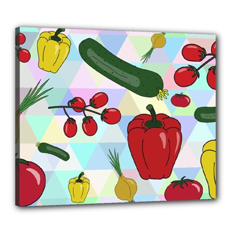 Vegetables Cucumber Tomato Canvas 24  x 20