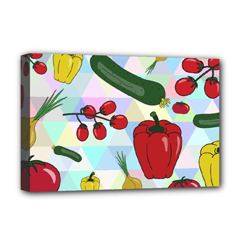Vegetables Cucumber Tomato Deluxe Canvas 18  X 12