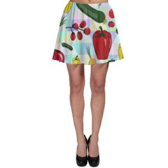 Vegetables Cucumber Tomato Skater Skirt
