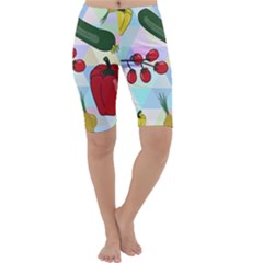 Vegetables Cucumber Tomato Cropped Leggings