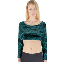 Pattern Vector Design Long Sleeve Crop Top