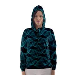 Pattern Vector Design Hooded Wind Breaker (Women)