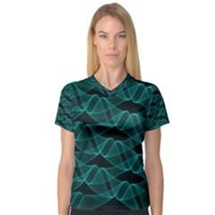 Pattern Vector Design Women s V Neck Sport Mesh Tee