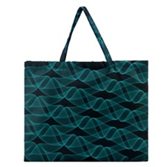 Pattern Vector Design Zipper Large Tote Bag