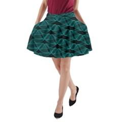 Pattern Vector Design A-Line Pocket Skirt