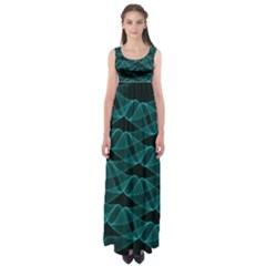 Pattern Vector Design Empire Waist Maxi Dress