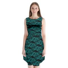 Pattern Vector Design Sleeveless Chiffon Dress