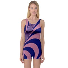 Fractals Vector Background One Piece Boyleg Swimsuit