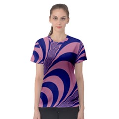 Fractals Vector Background Women s Sport Mesh Tee