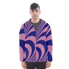 Fractals Vector Background Hooded Wind Breaker (men)