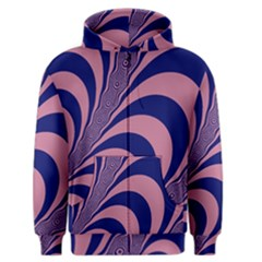 Fractals Vector Background Men s Zipper Hoodie